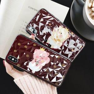 Sale! Piggy Glitter Diamond Pattern Phone Case